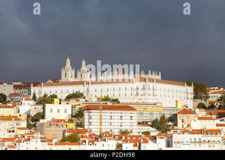 The Monastery of Saint Vincent Outside the Walls in Lisbon, Portugal. - Stock Photo