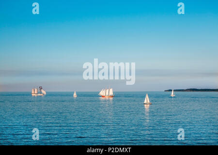 View towards the sea, Luebeck, Travemuende, Baltic Coast, Schleswig-Holstein, Germany - Stock Photo