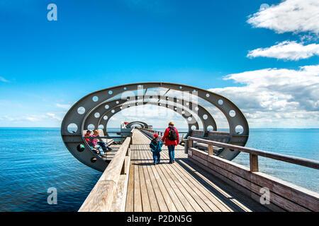 Pier, Kellenhusen, Luebeck Bay, Baltic Coast, Schleswig-Holstein, Germany - Stock Photo