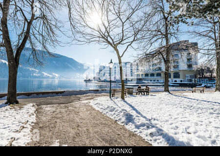 view to the Grand hotel Zell am See, Salzburger Land, Austria, Europe - Stock Photo