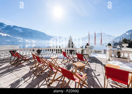 Grand hotel Zell am See, Salzburger Land, Austria, Europe - Stock Photo