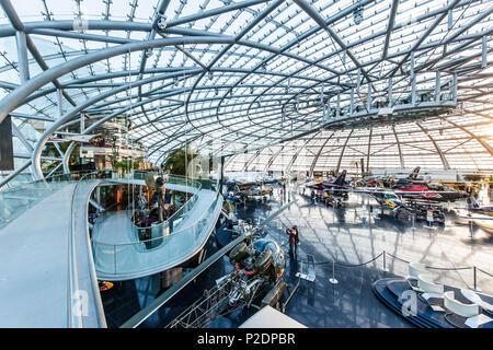 RedBull Hangar 7 in Salzburg, Salzburg, Austria, Europe - Stock Photo