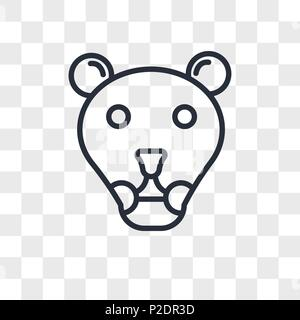 lioness vector icon isolated on transparent background, lioness logo concept - Stock Photo