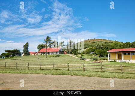 View of Rorke's Drift mission, Natal Province, South Africa - Stock Photo
