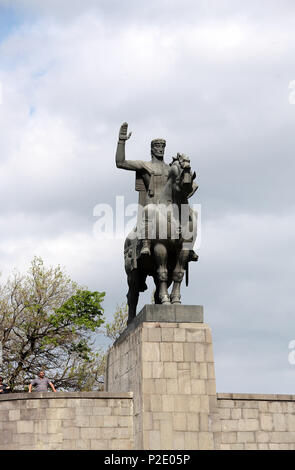 Statue of King Vakhtang in Tbilisi - Stock Photo