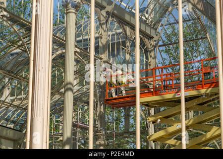 Crystal Palace in Retiro Park, Madrid, Spain - Stock Photo