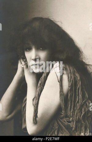 Sarah Bernhardt (1844 – 1923) French stage actress, Sarah Bernhardt in the role of Leah, - Stock Photo
