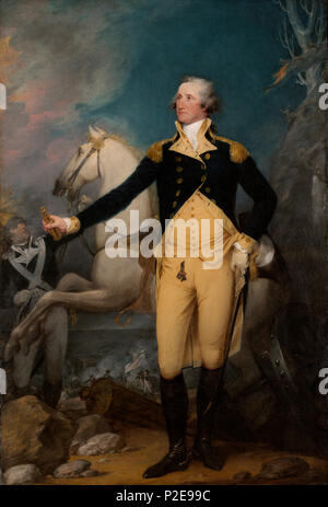 General George Washington, January 2, 1777. Painting by John Trumbull - Stock Photo