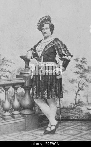 Charlotte Cushman, Charlotte Saunders Cushman (1816 – 1876) American stage actress - Stock Photo