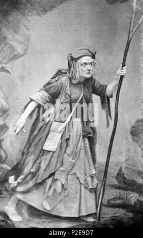 Charlotte Cushman as Meg Merrilees, Charlotte Cushman, Charlotte Saunders Cushman (1816 – 1876) American stage actress - Stock Photo
