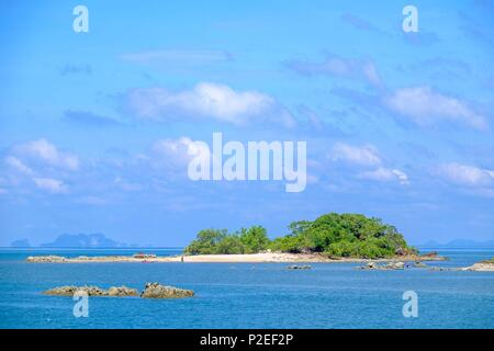 Thailand, Trang province, Ko Sukorn island, view from Ban Siammai main village - Stock Photo