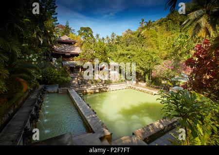 Pool, Hot Springs Air Panas Banjar at Bubunan, Bali, Indonesia - Stock Photo