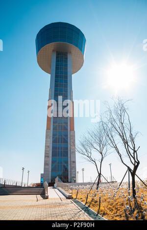 Ulsan, Korea - February 9, 2017 : Ulsan Bridge Observatory - Stock Photo