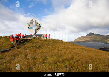 Memorial for castaways at Cape Horn, Cape Horn National Park, Cape Horn Island, Tierra del Fuego, Chile, South America - Stock Photo