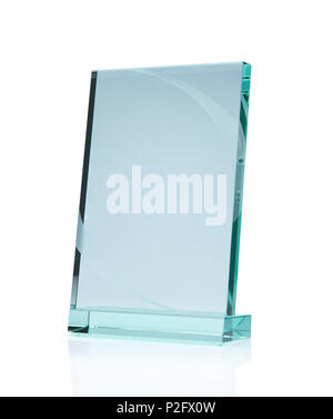 Close up of blank glass plate with copy space - Stock Photo
