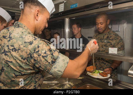 160924-N-NB544-020 PHILIPPINE SEA (Sept. 24, 2016) Seaman  Bonhomme Richard, flagship of the Bonhomme Richard Expeditionary Strike Group, is operating in the Philippine Sea in support of security and stability in the Indo-Asia Pacific region. (U.S. Navy Photo by Mass Communication Specialist 2nd Class Kyle Carlstrom/Released) - Stock Photo