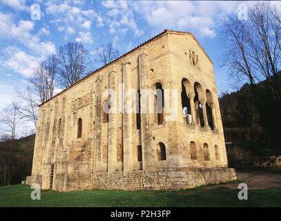 Santa María del Naranco, s.IX. Provincia de Asturias, España. - Stock Photo