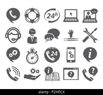 Support service icons - Stock Photo