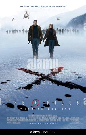 Original Film Title: THE X-FILES: I WANT TO BELIEVE.  English Title: THE X-FILES: I WANT TO BELIEVE.  Film Director: CHRIS CARTER.  Year: 2008. Credit: CRYING BOX PROD./TEN THIRTEEN PRODUCTIONS / Album - Stock Photo
