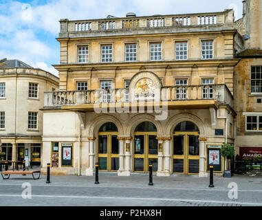 The entrance to the late Georgian New Theatre Royal in Bath Somerset UK - Stock Photo