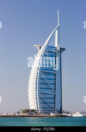 Luxury Hotel Burj Al Arab, Dubai, Unites Arab Emirates, UAE - Stock Photo