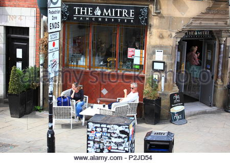 The Mitre Wine And Cocktail Bar at Manchester City Centre, Manchester UK Summer June 2018 - Stock Photo