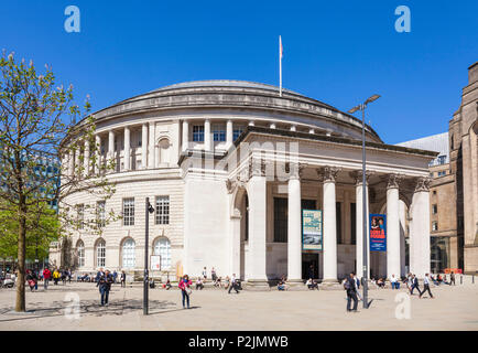 England Manchester England greater Manchester City centre city center manchester central library st peters square manchester city centre manchester uk - Stock Photo