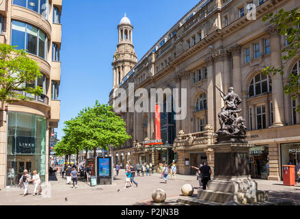 England Manchester England greater Manchester City centre Royal exchange theatre exchange street boer war memorial st annes square  manchester uk - Stock Photo