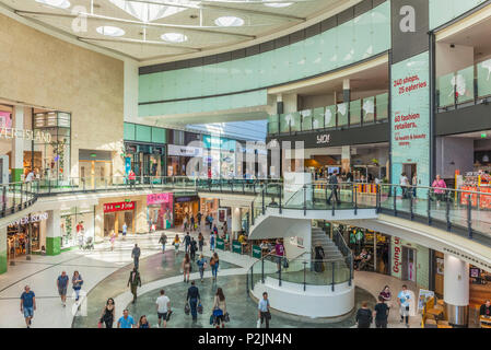 manchester arndale centre inside interior shops and shoppers shopping manchester England Manchester England greater Manchester City centre city center - Stock Photo