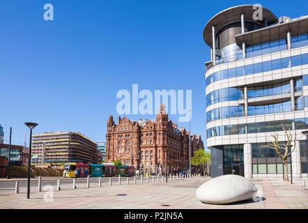 England Manchester England greater Manchester City centre city center Barbirolli Square midland hotel manchester city centre uk - Stock Photo