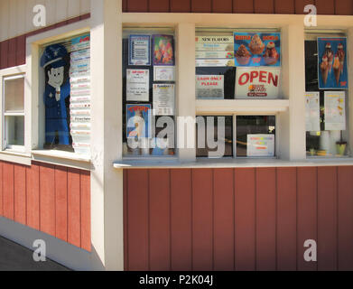 old fashioned ice cream stand - Stock Photo
