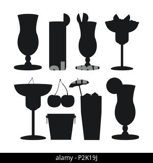 Set of bar drinks - Stock Photo