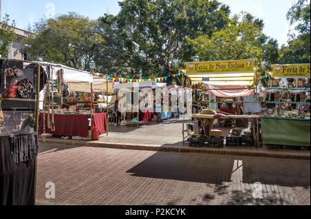 Feria de San Telmo (San Telmo Market) - Buenos Aires, Argentina - Stock Photo