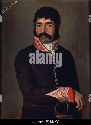 Hero from the Spanish Independence War. Madrid, Museum of the Army. Author: Anonymous. Location: ALCAZAR / MUSEO DEL EJERCITO-COLECCIÓN, TOLEDO, SPAIN. - Stock Photo