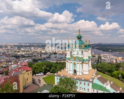 St. Andrews Aerial Kiev - Stock Photo