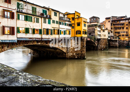 Ponte Vecchio (Old Bridge). Florence, Province of Florence, Italy. - Stock Photo