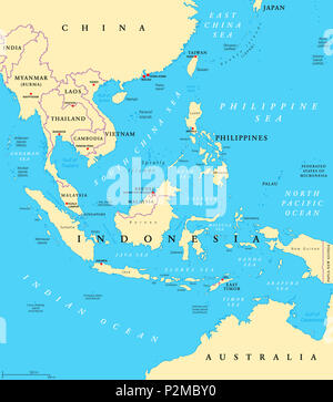 outline malaysia map southeast asia political map with capitals and borders subregion of asia english labeling