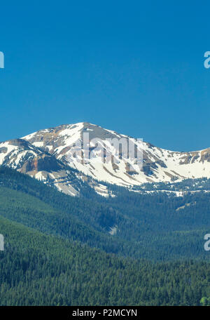 bald peak along the continental divide of the henrys lake mountains near west yellowstone, montana - Stock Photo