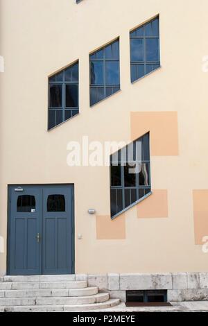 Henry van de Velde Building, Bauhaus University, Weimar, Thuringia, Germany - Stock Photo