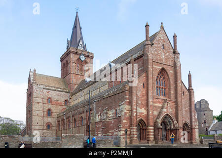 St Magnus Cathedral, Broad Street, Kirkwall, The Mainland, Orkney Islands, Northern Isles, Scotland, United Kingdom - Stock Photo
