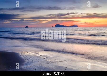 Thailand, Trang province, Ko Sukorn island, view of the islands of Mu Ko Phetra Marine National Park from the west coast - Stock Photo