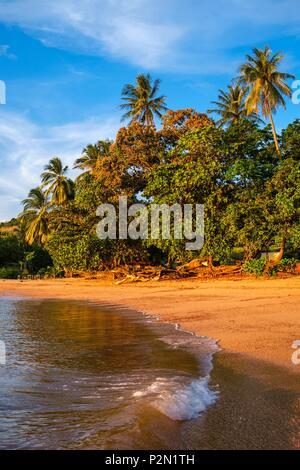 Thailand, Trang province, Ko Libong island, Haad Lang Kao beach west of the island at sunset - Stock Photo
