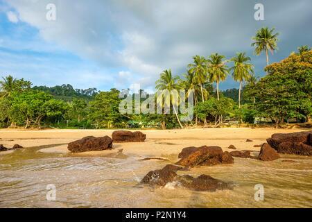 Thailand, Trang province, Ko Libong island, Haad Lang Kao beach west of the island - Stock Photo