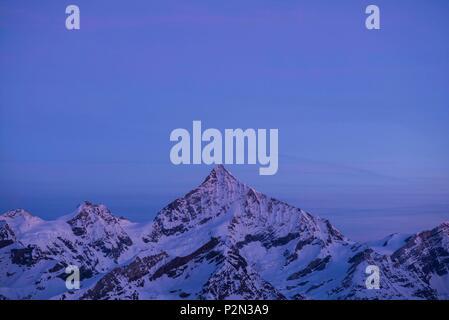 Switzerland, Valais, Zermatt, Gornergrat (3100 m), point of view on the Matterhorn (4478 m) and the Monte Rosa mountain range - Stock Photo