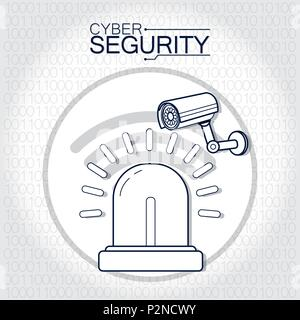 Cyber security technology - Stock Photo