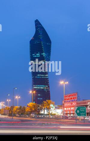 Kuwait, Persian Gulf, Kuwait City, Al Tijaria tower in Central Business district - Stock Photo