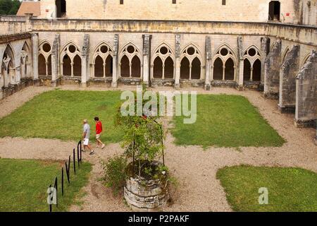 France, Cher, Noirlac Abbey - Stock Photo