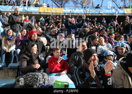 Buenos Aires, Buenos Aires, Argentina. 16th June, 2018. Russia 2018 Soccer World Cup. Argentine fans watch football game against Iceland on a giant screen installed by the Government of the City of Buenos Aires. Credit: Claudio Santisteban/ZUMA Wire/Alamy Live News - Stock Photo