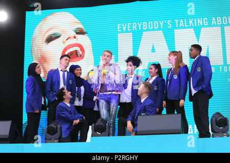 London, UK  Cast of Everybody's Talking About Jamie perform