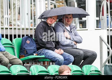 Edgbaston Priory Club, Birmingham, UK. 16th June, 2018. Nature Valley Classic Tennis; Rain on the first days play Credit: Action Plus Sports/Alamy Live News - Stock Photo